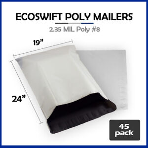 45 19x23 Ecoswift Poly Mailers Large Plastic Envelopes Shipping Bags 2 35mil