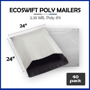 40 24x24 Ecoswift Poly Mailers Large Plastic Envelopes Shipping Bags 2 35mil