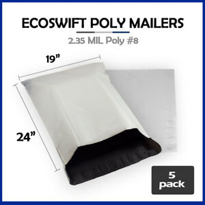 5 19x24 Ecoswift Poly Mailers Large Plastic Envelopes Shipping Bags 2 35mil