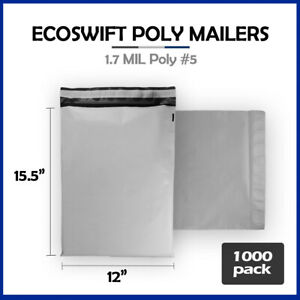 1000 12x16 Ecoswift Poly Mailers Plastic Envelopes Shipping Mailing Bags 1 7mil