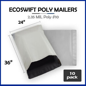 10 24x36 Ecoswift Poly Mailers Large Plastic Envelopes Shipping Bags 2 35mil