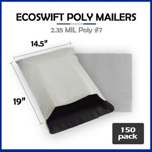 150 14 5x19 Ecoswift Poly Mailers Plastic Envelope Shipping Mailing Bags 2 35mil