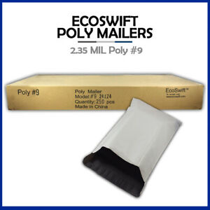250 24x24 Ecoswift Poly Mailers Large Plastic Envelopes Shipping Bags 2 35mil