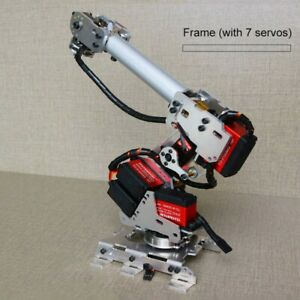 Unassembled 260mm 6 Axis Robot Arm Frame 6 Dof Arm Robot Model With 7 Servos Tzt