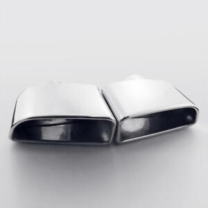 Pair Exhaust Tips 2 25 Inlet Slant Cut Rolled 7 3 x3 15 Out 10 6 Long Ss304