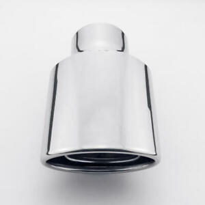 Oval Out Exhaust Tip 2 25 Inlet 7 Long Slant Cut Rolled Stainless Steel