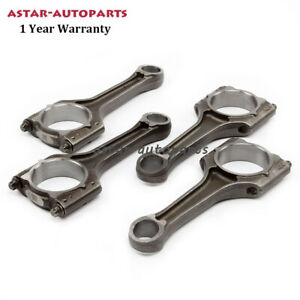 4x Connecting Rod Conrod 21mm Piston Pin Fit For Vw Golf Mk6 Audi A4 Skoda 1 8t