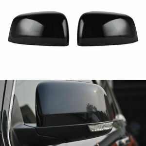 New Pair Black Mirror Covers For 2011 2020 Jeep Grand Cherokee Dodge Durango