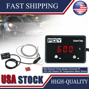 Npt 1 8 Car Exhaust Gas Temp Gauge Led Pointer Egt Temperature Meter Sensor