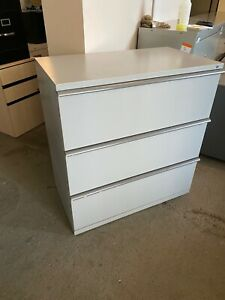 3 Drawer Lateral Size File Cabinet By Herman Miller Meridian