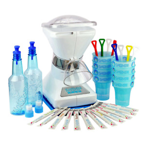 Little Snowie Max Shaved Ice Machine Bundle With 12 Powdered Flavor Mixes
