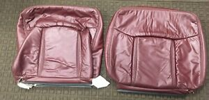 1991 1993 Cadillac Deville Upper Front Seat Covers Burgundy Nos Rare L K