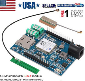Gsm Gprs Gps Module 3 In 1gsm gprs Ipex Antenna Dc 5 9v Support Voice Message