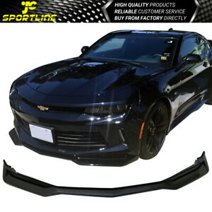 Fits 16 18 Chevy Camaro Zl1 Style Front Bumper Lip Spoiler Gloss Black Pp