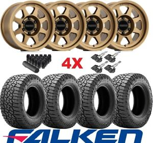 Method Bronze Wheels Rims Tires 315 70 17 Falken Wildpeak At Fuel Rhino F 150