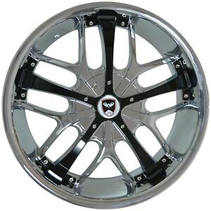 4 Wheels 18 Inch Chrome Black Savanti Rims Fits Et20 Honda Civic Sedan 2012 2020