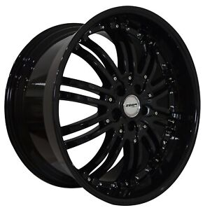 4 G22 Narsis 20 Inch Staggered Black Rims Fits Honda Accord Coupe V6 2008