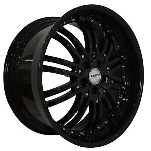 4 G22 Narsis 20 Inch Staggered Black Rims Fits Chevy Camaro Zl1 2012 2015