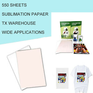 Sublimation Paper Heat Transfer Dye Inkjet Iron On Mug T shirt 550 Sheets A4 Us
