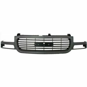 New Grille Gray Shell Black Insert Plastic Fits Gmc Yukon 1999 2006 Gm1200429