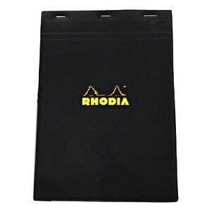 Bloc Rhodia 5mm Graph 8 25 X 11 75 Top Stapled 80 Sheets Black Pads