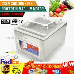 Table Top Commercial Vacuum Sealing Machine Packing Sealer 120w Chamber Dz 260c