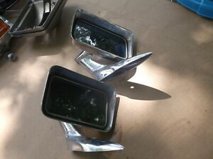 Pair Of Vintage Rat Rod Muscle Car Chrome Rectangler Sport Mirrors Rare