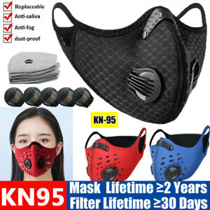 Washable Protective Breathable Face Mask Activated Carbon Filters Pad Respirator