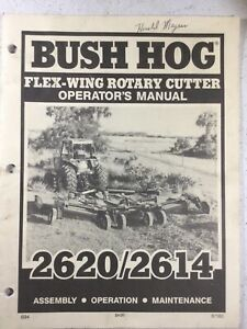 Bush Hog 2620 2614 Cutters Operators Manual