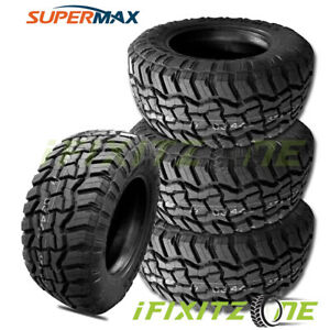 4 New Supermax Rt 1 35x12 50r17lt 121q 10 ply e All terrain Mud Tires M t A t