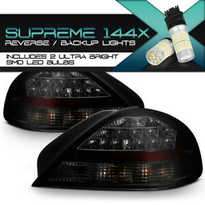 Full Smd Reverse 99 05 Pontiac Grand Am blacked Out Led Rear Tail Lights Set