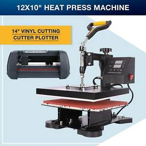 14 Vinyl Cutting Cutter Plotter Printer Sublimation Heat Press Machine 12x10