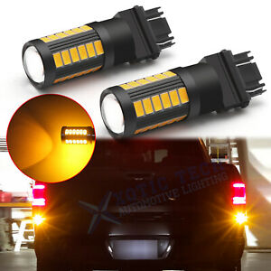 3157 Led Amber Rear Turn Signal Light Bulbs For Ram 1500 1994 2012 Super Bright