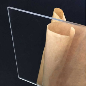 Acrylic Clear Plastic Sheet 1 8 X 24 X 24 Water Resistant 1 8 Thick