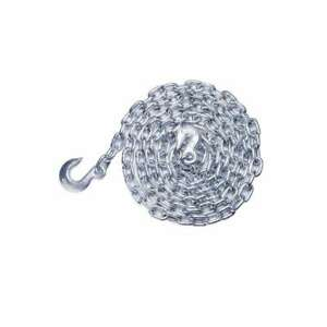 Blue Hawk 3 8 in X 14 ft Log Chain With Grab Hook And Slip Hook Zinc plated