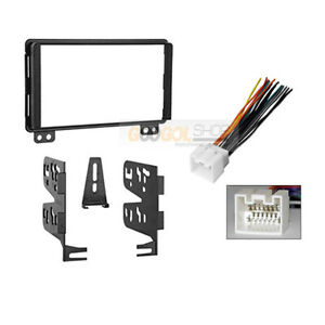 Double Din Car Stereo Radio Install Kit wire Harness For 2001 2004 Ford Mustang