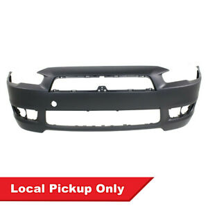 New Primed Front Bumper Cover For 2008 2015 Mitsubishi Lancer Mi1000324 6400d172