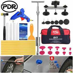 Pdr Tools Paintless Hit Dent Remover Kit Hail Removal Car Damage Repair Puller