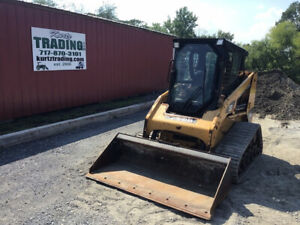 2011 Caterpillar 247b3 Compact Track Skid Steer Loader W Cab 2spd Only 1500hrs