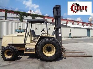 2005 Ingersol Rand Rt708h 8000 Lb Rough Terrain 4x4 Forklift Only 455 Hours