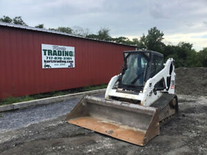2012 Bobcat T190 Compact Track Skid Steer Loader W Cab Clean Only 2400hrs