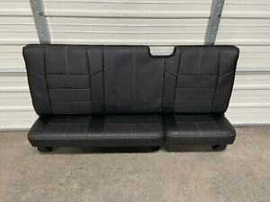 2008 2016 Ford F250 F350 Super Duty Extended Cab Rear Seat Black Leather