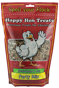 Happy Hen Treats 17015 Poultry Mix Mealworm Oats 2 lbs Quantity 1