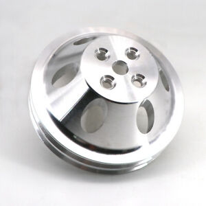 Aluminium Water Pump Pulley 2 Groove For Chevy Sb Sbc 327 350 Short Water Pump