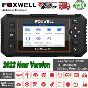 Foxwell Nt644 Elite Full System Obd2 Scanner Car Diagnostic Tool Abs Srs Airbag