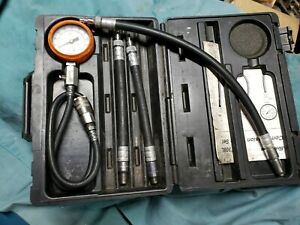 Snap on Mt308l Compression Gauge Set W ford Triton Adapter Preowned