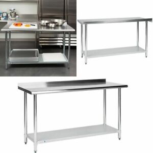 Commercial Stainless Steel 24 X 60 Work Prep Cooking Kitchen Table Backsplash
