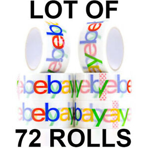 Lot Of 72 Rolls Genuine Ebay Branded Packaging Shipping Packing Tape 72 X 75 Yds