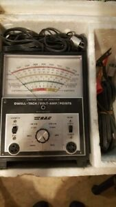 Vintage Rac Ignition Tune Up Analyzer Dwell Tach Amps Points Made In Usa