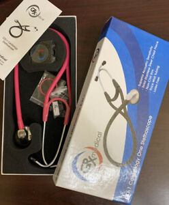 New Hot Pink Grx Medical Cd 1 Cardiology Stethoscope Free Shipping Penlight